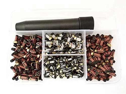 400pieces / box Kraftstoffeinspritzdüseprüfvorrichtung Micro Filter mit Filter entfernen Werkzeug for Fuel Injection Reparatursätze (AY-RKF002)