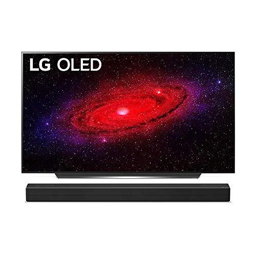 LG OLED65CX9LA 164 cm (65 Zoll) OLED Fernseher (4K, Dual Triple Tuner (DVB-T2/T,-C,-S2/S), Dolby Vision, Dolby Atmos, Cinema HDR, 100 Hz, Smart TV) [Modelljahr 2020] + Soundbar [Modelljahr 2020]