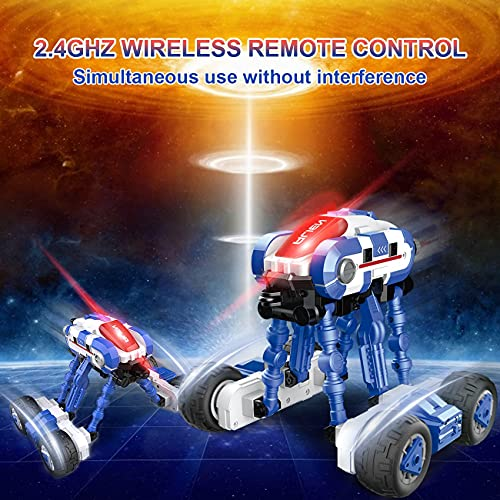 RC Cars, HBUDS 2.4GHz Remote Control Cars Electric 4WD High Speed Monster Truck Toys, 2 Batteries for 40 Min Play, Off Road Crawler Stunt Car 360° Flips Vehicles Hobby Gift for Boys & Girls