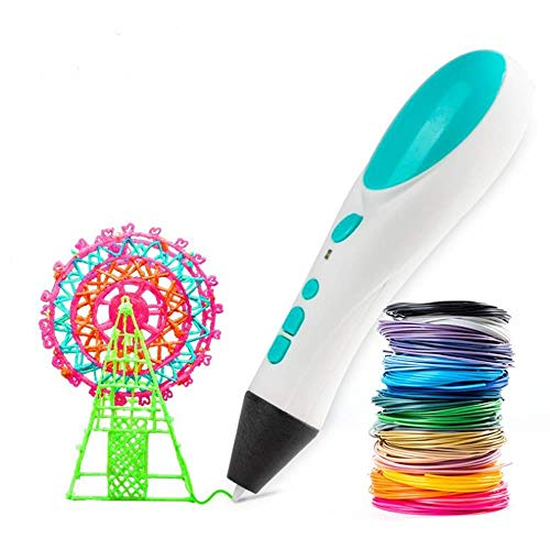 MLQ Super 3D Printing Pen, Kids DIY Drawing Pen with All New Dual Drive Technology, for Child Education Puzzle Toys, Birthday Gifts