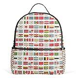 Vintage World Flags Mochila para hombres y mujeres, mochila de hombro, mochila de viaje para adolescentes