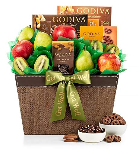 GiftTree Fresh Fruit & Godiva Get Well Gift Basket | Includes Gourmet Chocolates and Confections fro - http://coolthings.us
