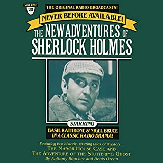 The Manor House Case and The Adventure of the Stuttering Ghost audiobook cover art
