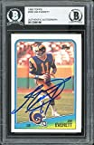 Rams Jim Everett Signed 1988 Topps #288 Card BAS Slabbed - Football Slabbed Rookie Cards. rookie card picture