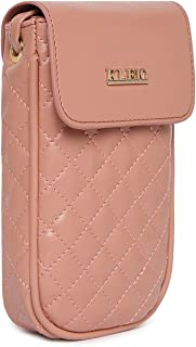 KLEIO Small Quilted Crossbody Mobile Sling Pouch For Women/Girls