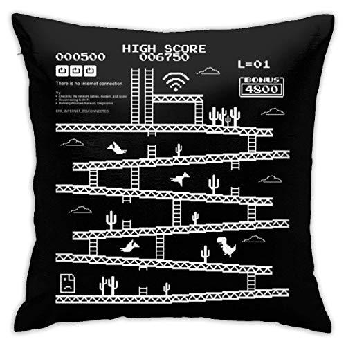 INGXIANGANCHI Internetverbindung Kong Kissenbezug, doppelseitiger Druck, versteckter Reißverschluss Kissenbezug, schöne gedruckte Muster Kissenbezug 18inch18inch
