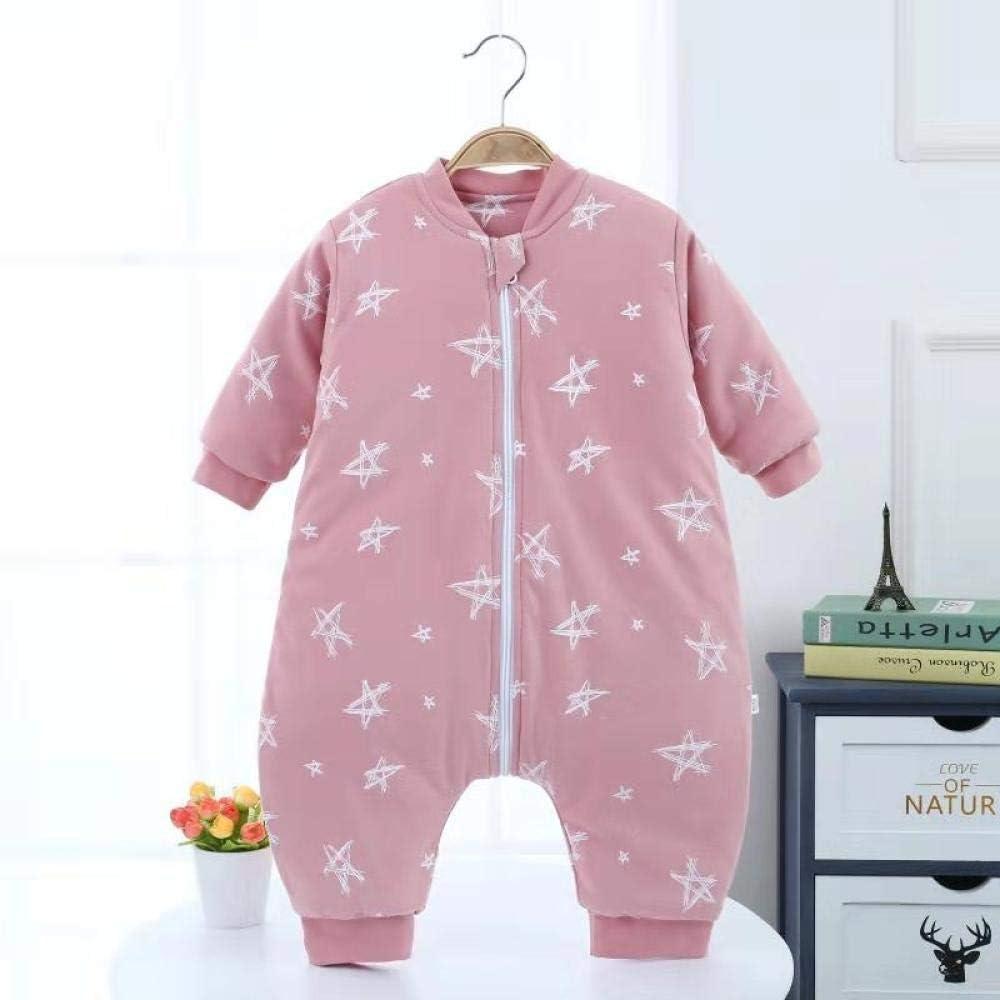 Pijamas De Lana Con Mangas Divididas Y Mangas Para Beb/és Y Ni/ños Peque/ños De 6 Meses A 5 A/ños-Green Pink  70cm Fazeer Saco De Dormir Para Beb/é