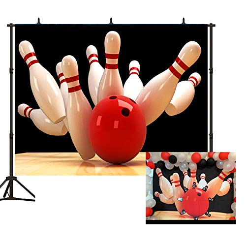Bowling Sport Background 7X5ft Turkey Strike Lucky Photography Backdrop for Photo Props Room BT011