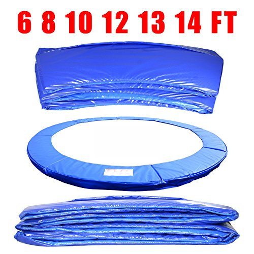 Greenbay 6ft, 8ft, 10ft, 12ft, 13ft, 14ft Premium Replacement Trampoline Surround Pad | UV resistant PVC top | EPE foam(thickness:15mm, width:300mm) | Safety Guard Spring Cover Padding Pads Blue (12FT(366cm))