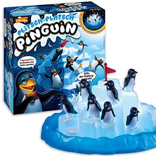 Ravensburger - 21325 - Plitsch Platsch Pinguin - großer Spielspaß mit Geschicklichkeitsfaktor für Kinder und Erwachsene - Klassiker für 1 bis 5 Spieler ab 4 Jahren