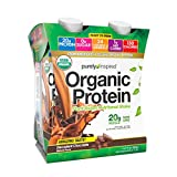 Purely Inspired Organic Protein Shake, Ready to Drink, 20g Plant Based Protein, No Sugar, Low Carbs, Naturally Flavored, Decadent Chocolate, 11 Fl Oz (Pack of 12)