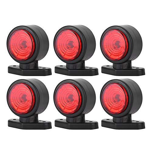 Hlyjoon 6Pcs LED Truck Light 12-24V Stopp Blinker Kontrollleuchte Wasserdicht IP65 Seitenmarkierung Rücklicht für Anhänger Sattelzugtraktor