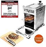 LoneStar StarBurner Edelstahl Beef Grill, Hochtemperatur Gasgrill, Beefmaker Oberhitzegrill bis 800°C, Gas Griller, Steak Grillen wie ein Profi, Steakgriller, Gasbrenner 4,3 KW...
