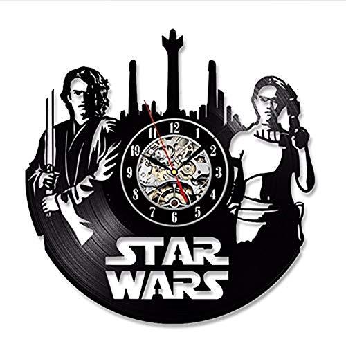 Reloj de Pared, Anakin Skywalker Vinyl Record Clock Home Decor Room Art...