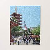 Senso-Ji Temple Pagoda Roja En Asakusa Tokio Japón Jigsaw Puzzles 1000 piezas, desafiantes y educativos Juegos Juguetes, pintura abstracta Puzzle para niños adultos