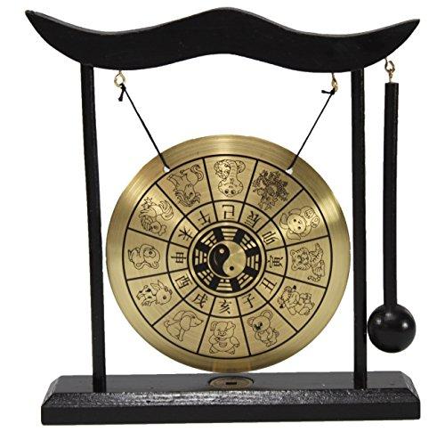 Zen 12 Chinese Zodiac Table Gong Feng Shui Meditation Desk Bell Home Decor Housewarming Congratulatory Blessing Gift US Seller