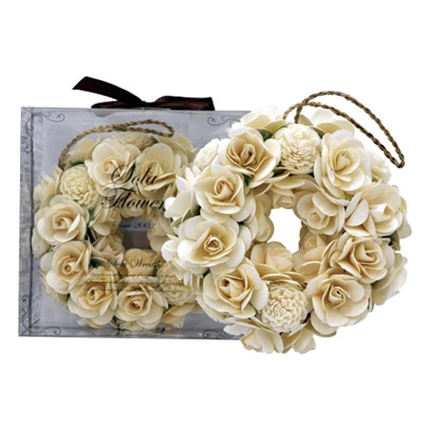 衣服バッジ特権的new Sola Flower ソラフラワー リース Sweet Dahlia スウィートダリア Wreath