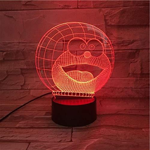 3D Luz Nocturna 16 Cambio De Color Lámpara De Noche De Ilusión Óptica 3D Con Mando A Distancia Carga Usb Táctil Luces Dormitorio Del Hogar Decoración De Regalo De Navidad De Cumpleaños