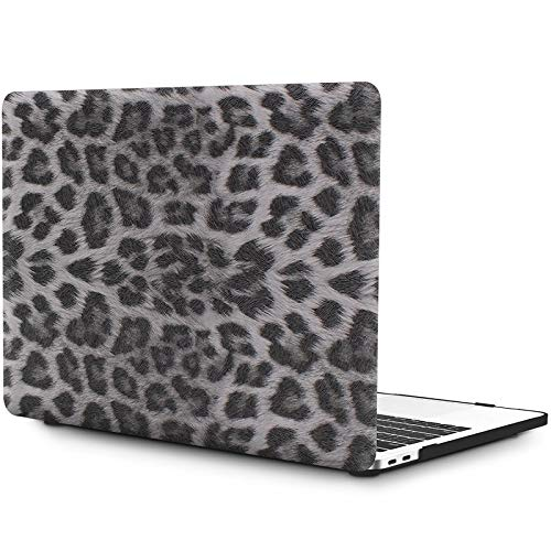 OneGET MacBook Pro 13 Inch Case with Touch Bar Fashion Laptop Case Pro 13 2020 A2338 M1 A2251 A2289 PU Leather Leopard Print Case Hard Shell Cover for 2020 MacBook Pro 13 with Retina (4189)