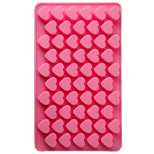 Silikon Backform Schokolade Kuchen Jelly Candy Backform Mini-Tablett Pfanne Cube, Liebe/Herz, Einheitsgröße