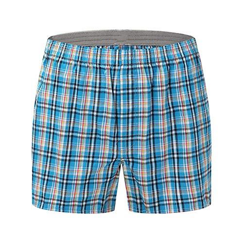 N\P Herren Unterwäsche Boxershorts lässig Baumwolle Pyjama Unterwäsche Gitter locker und bequem