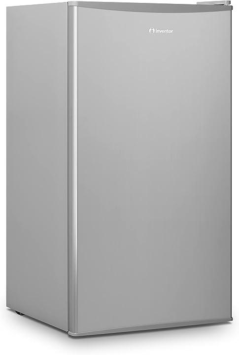 frigorifero compatto 93l, da tavolo, silenzioso di color argento con compressore inventor mp860sec