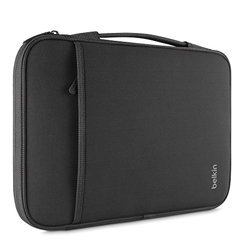 Belkin Slim Protective Sleeve with Carry Handle and Zipped Storage for Chromebooks, Netbooks and Laptops Upto 11 inch - Black