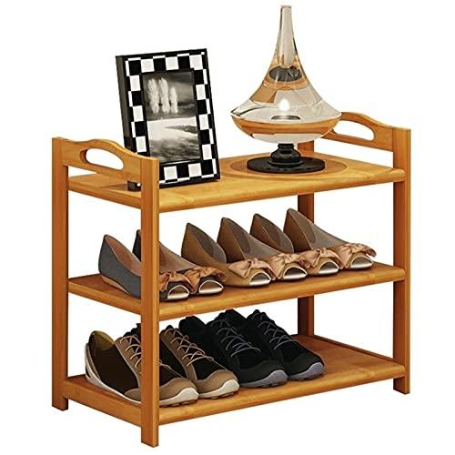 Estante de Zapatos Rack de zapatos de madera Simple 3-Nivel ahorro de espacio de zapatería Organizador de almacenamiento Gabinete de zapatos para la sala de estar de entrada Organizador de Zapatos
