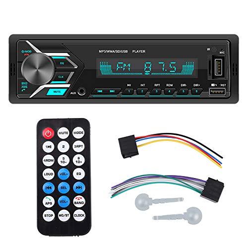 Reproductor de MP3 para Coche, Reproductor de MP3 estéreo para Coche de 12 V, Doble USB, Bluetooth, Radio FM, Lector de Tarjetas de Memoria, retroiluminación de 7 Colores
