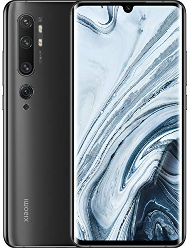 "Xiaomi Mi Note 10 Smartphone, 6 GB RAM + 128 GB ROM, Schermo 3D Curved Amoled 6.47"", Penta Camera 108 MP, 5260 mAh, Midnight Black"