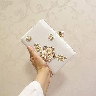 NSHUN Womens Glitter Floral Rhinestone Beaded Evening Bags Wedding Clutch Purse,Clutches Pearls Evening Bag Clutch Bags, Wedding Evening Clutch Purse Bride Floral Clutch Bag
