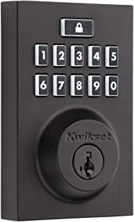 Kwikset 914 SmartCode® Contemporary Square Electronic Deadbolt featuring SmartKey Security™ and Z-Wave Technology in Matte...