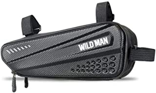 WILD MAN 1.2L Rainproof Hard Shell Bike Saddle Bag for Bicycle Triangle Frame Under Seat for Road Mountain Cycling