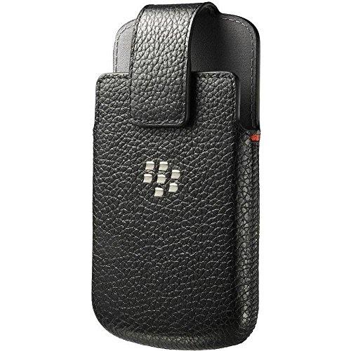 Blackberry ACC-50879-201 Leder Holstertasche mit Gürtelklipp für Q10 schwarz