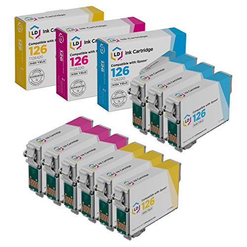 LD Remanufactured Ink Cartridge Replacement for Epson 126 (3 Cyan, 3 Magenta, 3 Yellow, 9-Pack) Mississippi