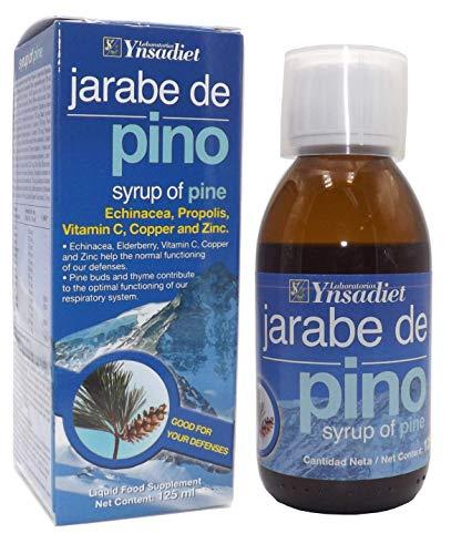 YNSADIET Jarabe de Pino Echinácea, Propóleo, Vitamina C, Cobre y Zinc - 125 mililitros