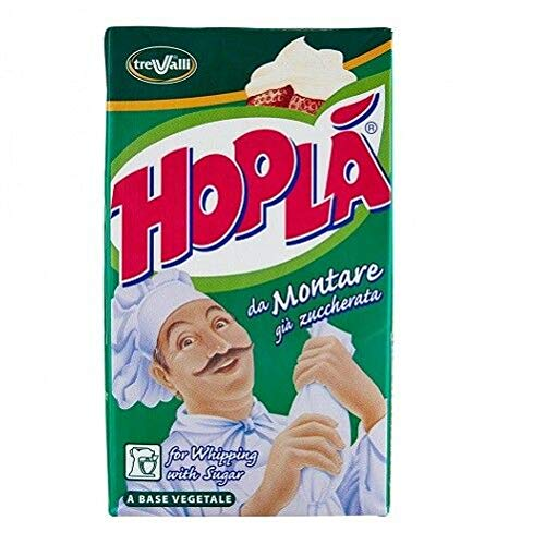 6x Hoplà Panna da montare glutenfrei süße Sahne cremee zum Nachtisch 1000ml