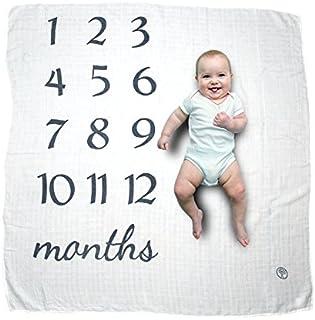 Manta de bebé con diseño de hito para ver cómo tu bebé recién nacido crece. Regalo perfecto para nuevas mamás. Unisex para bebés y niñas de 0 a 12 meses de edad