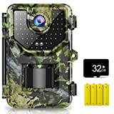 1520P 20MP Trail Camera, Hunting Camera with 120°Wide-Angle Motion Latest Sensor View 0.2s Trigger...