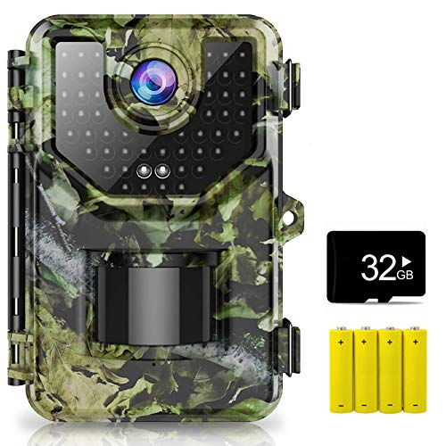 "1520P 20MP Trail Camera, Hunting Camera with 120°Wide-Angle Motion Latest Sensor View 0.2s Trigger Time Trail Game Camera with 940nm No Glow and IP66 Waterproof 2.4"" LCD 48pcs for Wildlife Monitoring"