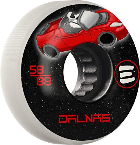 RollerBones Eulogy Pro Jeff Dalnas Signature Wheel Rocket Man Aggressive Inline Wheel 58mm 88A 4pk White