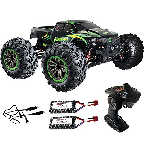 ALTAIR 1:10 Scale RC Truck with 2 Batteries [30 Minutes Non-Stop Run Time] 2.4 GHz Remote Control Car 4x4 Off Road Monster Truck - 48+ kmh Speed - Large RC Rock Crawler Truck (Lincoln, NE USA Company)