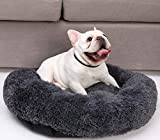 """MARSLABO Calming Dog Bed, Washable Round Dog Bed, Super Soft Fluffy Donut Dog Bed, Calming Bed for Dogs Small to Medium Dogs, Cats (20""""/24""""/28""""/39"""")"""