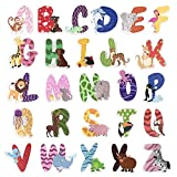 Holzbuchstaben Kinderzimmertür Alphabet Set ABC für Baby-