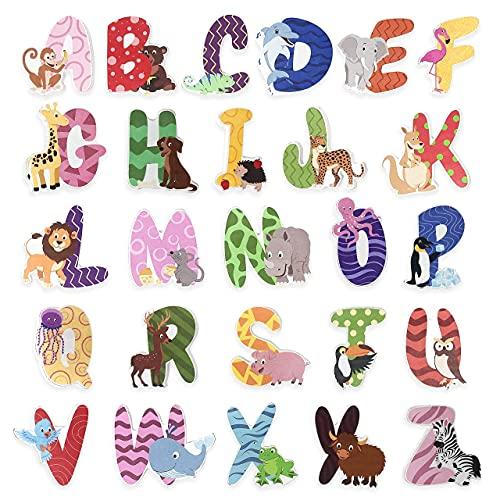 Holzbuchstaben Kinderzimmertür Alphabet Set ABC für Baby- Kinder, Holzspielzeug, Namensschilder I Pädagogisches Spielzeug Geschenk für Babys Jungen/Mädchen im Kinderzimmer letter blocks