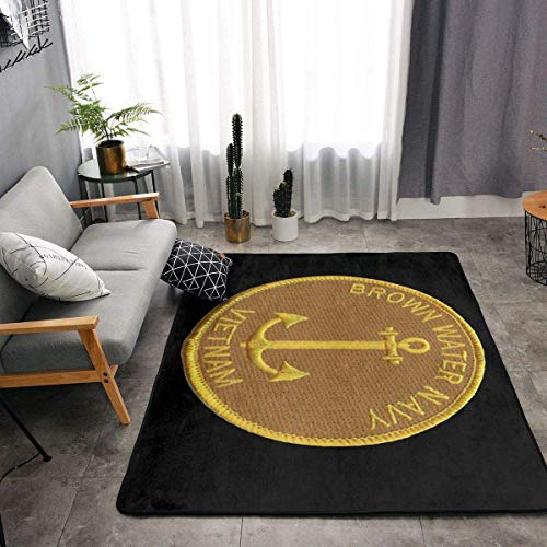 shenguang Brown Water Navy Vietnam Super Soft Personalized Carpet Decorator Floor Rug and Carpets 63 X 48 Inch Kitchen Carpet