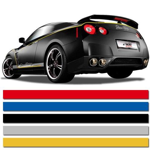 AUTOSTYLE Universelle Selbstklebende Pin-Stripe AutoStripe Cool200 - Schwarz - 3mm x 975cm