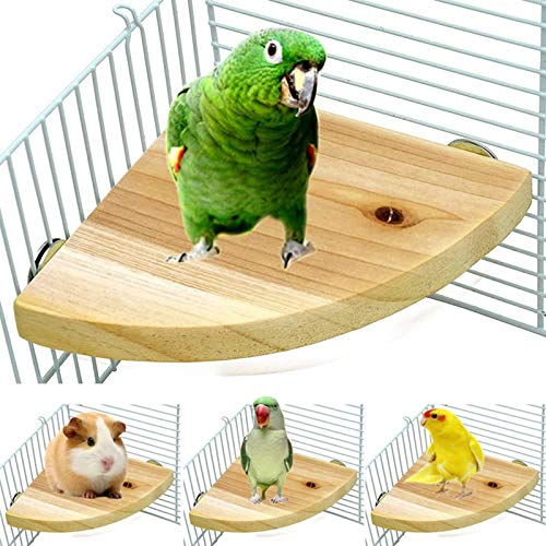 LSSH Bird Perch Platform Stand,Wood Perch Bird Platform Parrot Stand Playground Cage Accessories for Small Anminals Rat Hamster Gerbil Rat Mouse Lovebird Finches Conure Budgie Exercise Toy