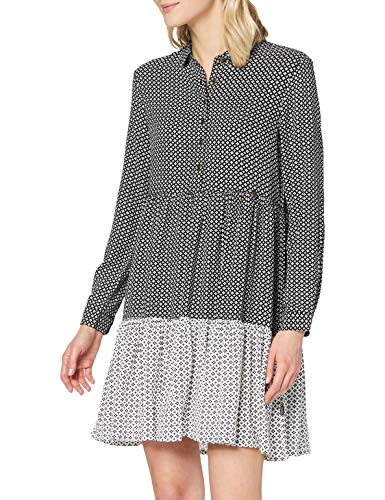 Superdry Kathryn Shirt Dress Vestido Casual, Mono Geo, XS para Mujer