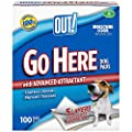 Out! Go Here Absorbent Dog and Puppy Pads, Pack of 100